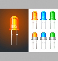 led lights vector image vector image