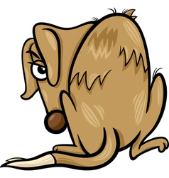 poor homeless dog cartoon vector image vector image