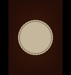 Brown creative cover vector image vector image