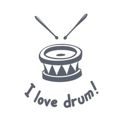 Drum music instrument vector image vector image