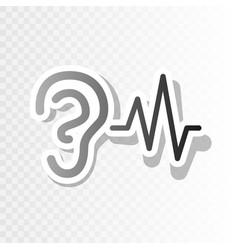 ear hearing sound sign new year blackish vector image vector image