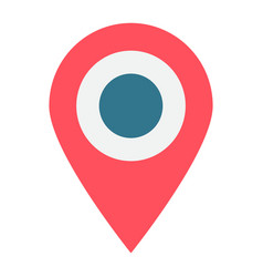 location flat icon map pin and website button vector image vector image