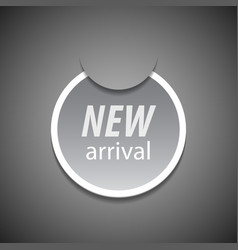 New arrival tag vector image