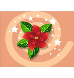 Poinsettia icon christmas vector image vector image