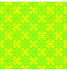 Bright green and yellow geometric seamless pattern vector image vector image