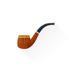 flat tobacco pipe icon vector image