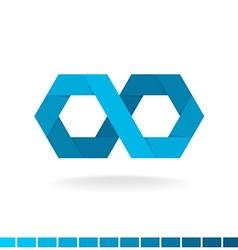 Hex infinity logo vector