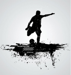 Man running vector