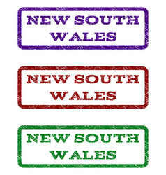 new south wales watermark stamp vector image