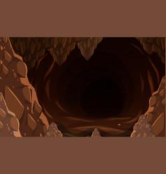 A dark stone cave vector