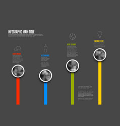 Abstract infographic template with four topics vector