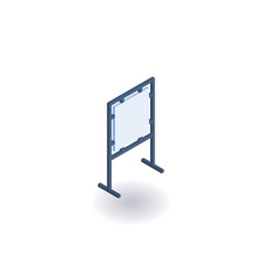 advertising stand isometric icon vector image