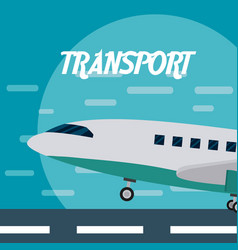 Airplane aircraft transport vector