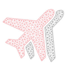 Airplanes polygonal frame mesh vector