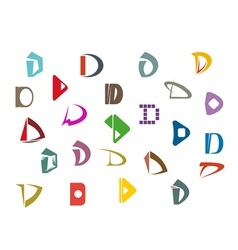 alphabet symbols and elements vector image