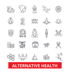 Alternative health healing medicine acupuncture vector
