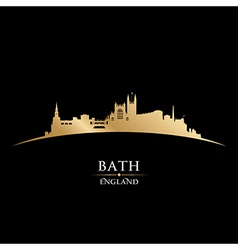 Bath England city skyline silhouette vector