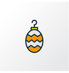 bauble icon colored line symbol premium quality vector image