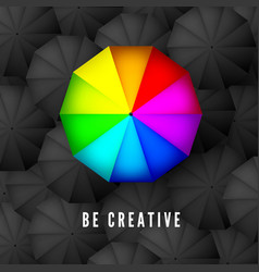 be creative and think different business concept vector image