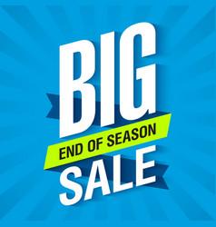 Big end of season sale poster vector