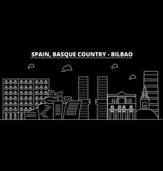Bilbao basque country silhouette skyline vector
