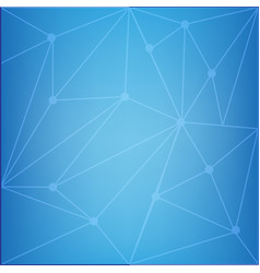 Blue background with triangle shapes vector