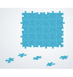 blue puzzle pieces vector image