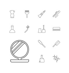 Brush icons vector