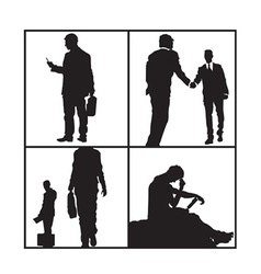 Business men sillhouettes vector
