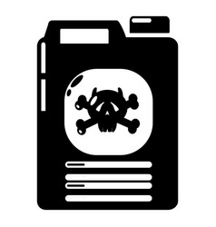 Canister icon simple style vector