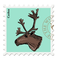 caribou vector image