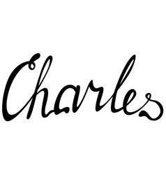 carles name lettering vector image