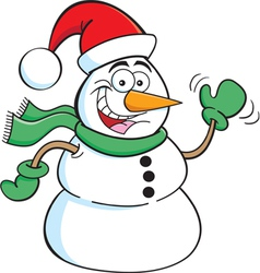 Cartoon Santa Snowman vector image