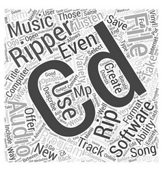 Cd ripper software word cloud concept vector