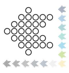 Circle arrow left icon vector