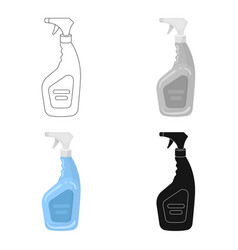 Cleaner spray icon in cartoon style isolated on vector