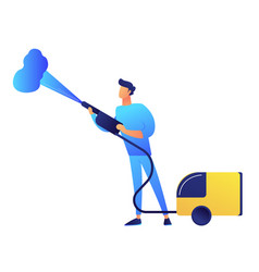 Cleaner with vapor steam cleaner vector