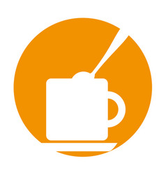 Coffee cup with sugar spoon vector