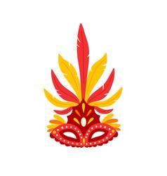 colorful brazil carnival mask flat vector image