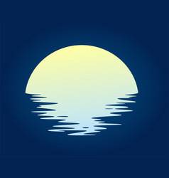 dawn sun in sea vector image