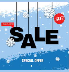 Discount poster vector