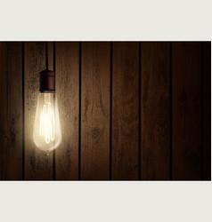 Edison light bulb vector