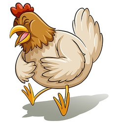 Fat mother chicken vector