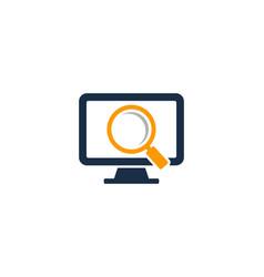 find computer logo icon design vector image
