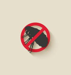 Flea warning sign vector