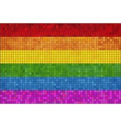 Gay pride mosaic flag vector