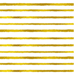 golden striped seamless pattern vector image