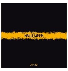 Halloween grunge template vector image