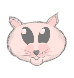 hand drawn rat cute cat sketch print vector image