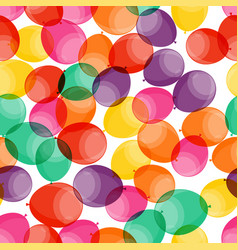 happy birthday party seamless pattern background vector image